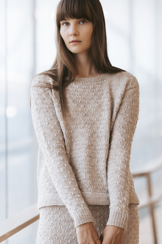 Free knitting pattern for a textured stitch sweater