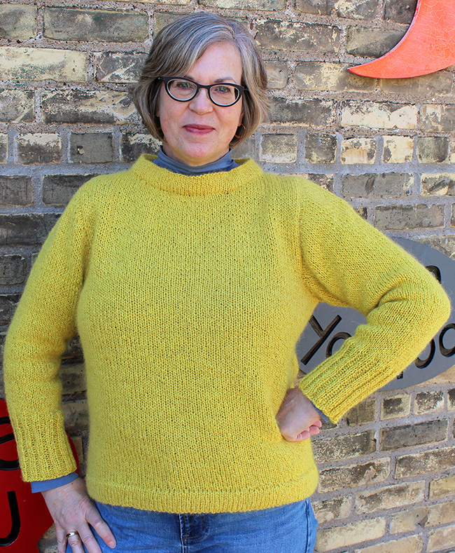 Free knitting pattern for an easy sweater