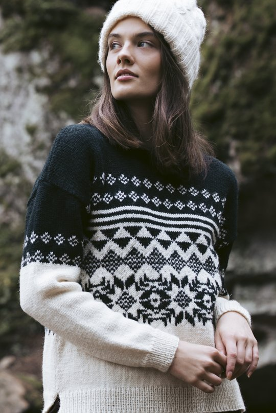 Nordic sweater free knitting pattern