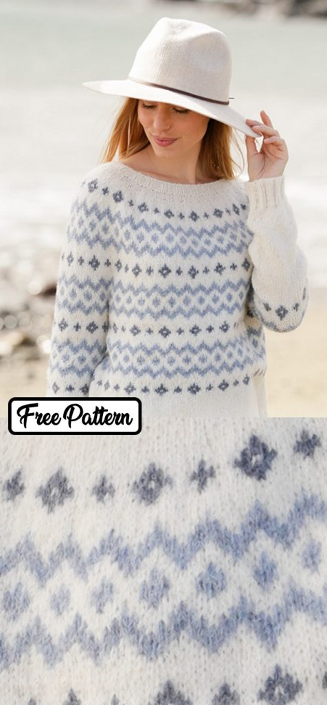 free knitting pattern for a nordic sweater