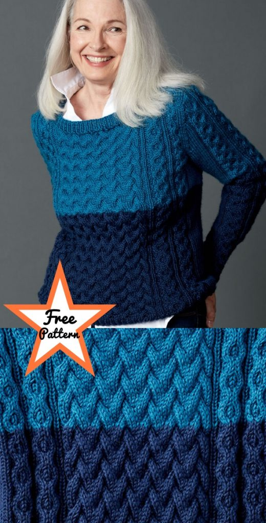 free knitting pattern for classic fisherman cable sweater