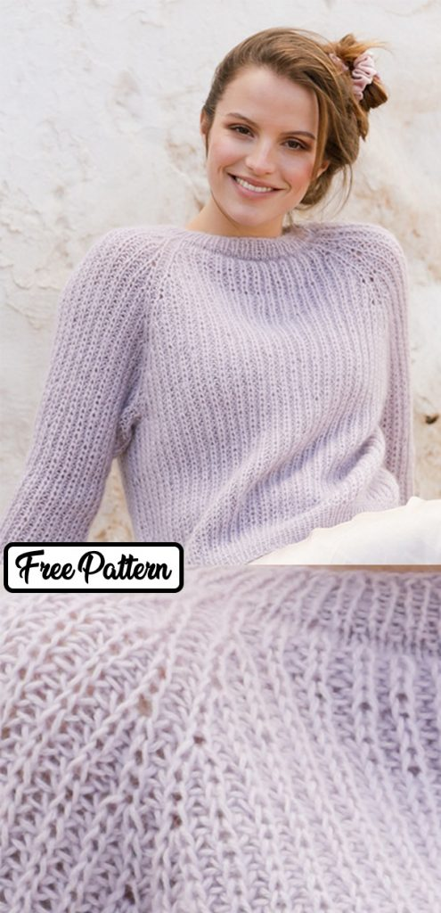 free raglan sweater knitting pattern
