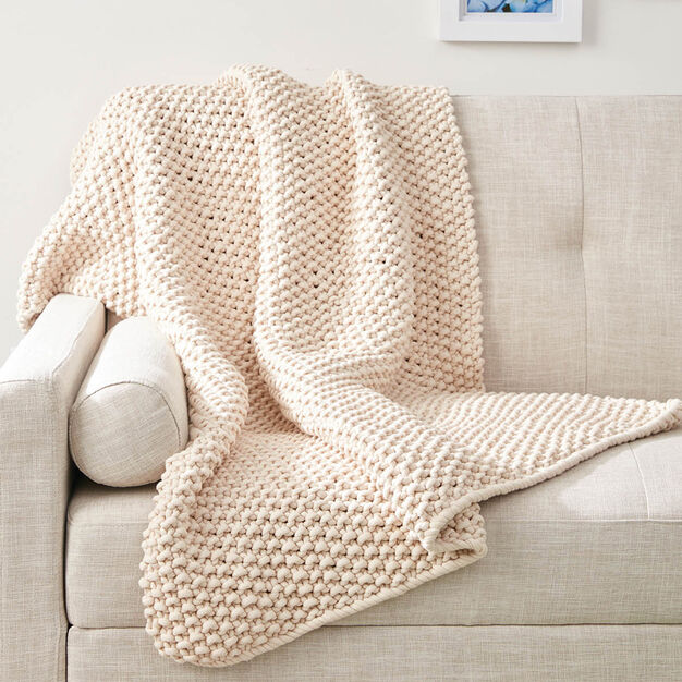 Beginner chunky blanket knitting pattern 2020