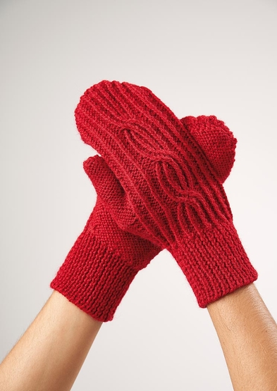 Cable mitts free knit pattern