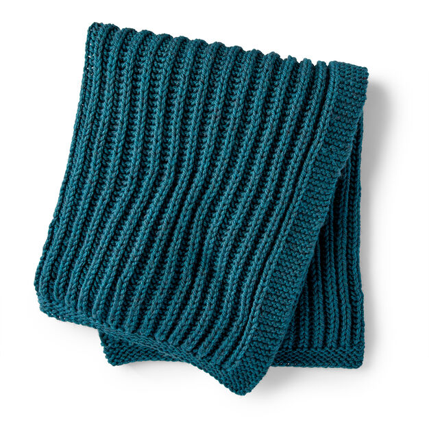 Fishermans rib blanket free knitting pattern