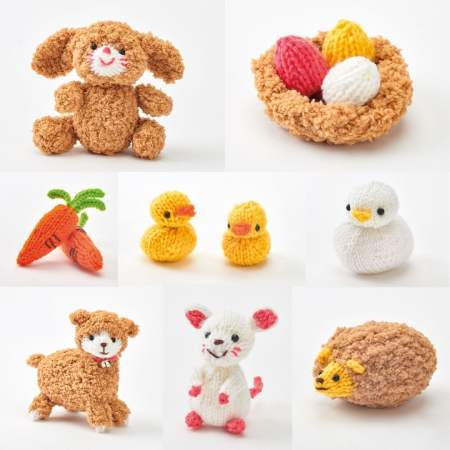 Free Knitting Pattern for Easter Toys Springtime Friends Patterns