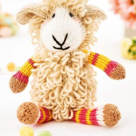 Free Knitting Pattern for Larry the Lamb
