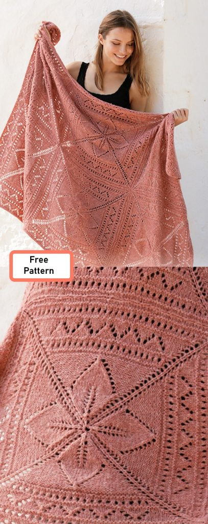 Free lace blanket knit pattern