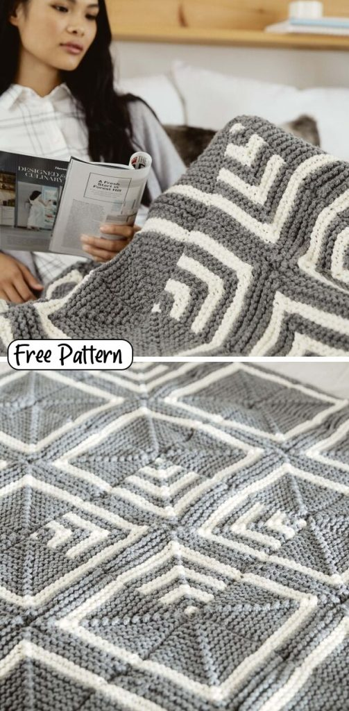 Free and easy blanket knitting pattern for 2020