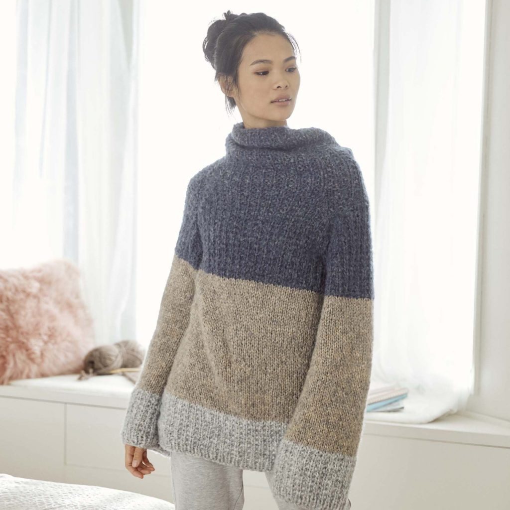 Free and easy sweater tunic knit pattern