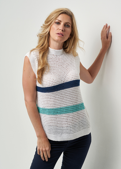 Free knit pattern for a mesh top for women