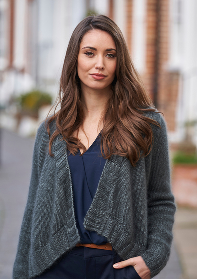 Free knitting pattern for a loose fitting cardigan