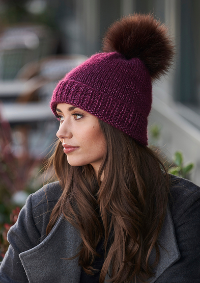 Free knitting pattern for a stocking stitch hat