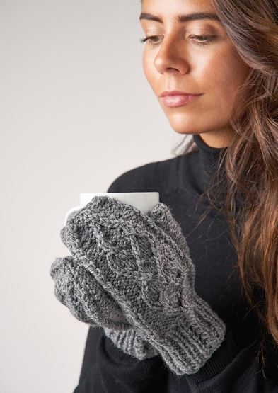 Free knitting patterns for mittens with cable design