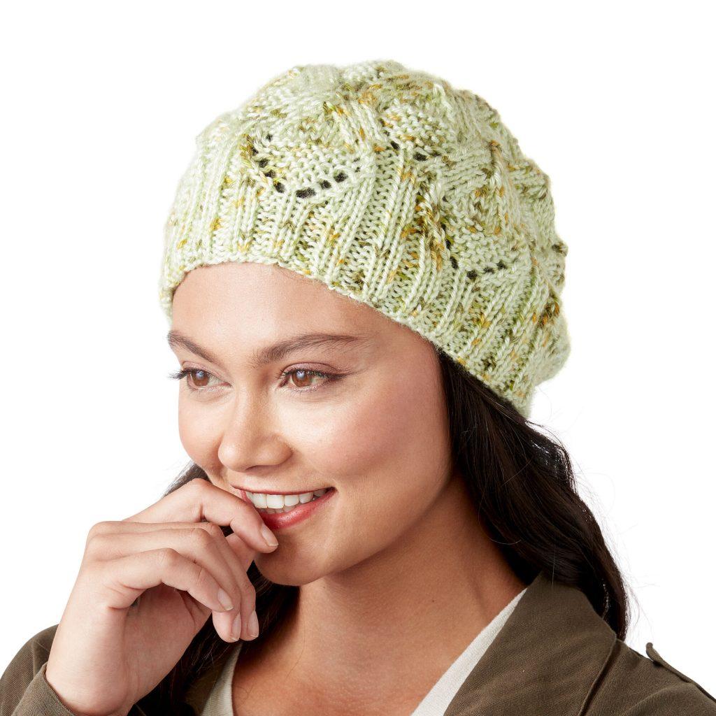 Free lace beanie knitting pattern 2020