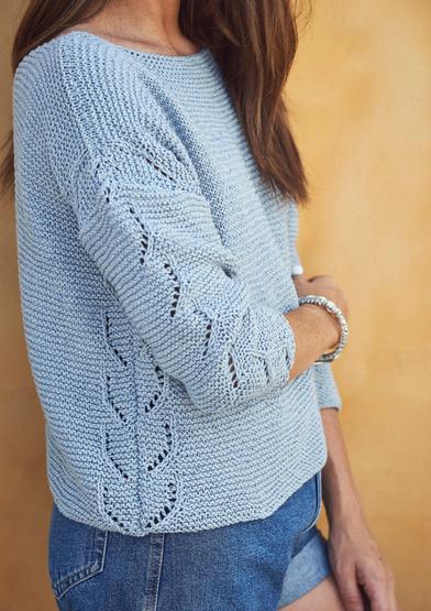 Free sweater knit pattern for a boxy sweater