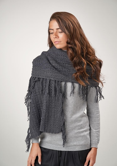 Free textured scarf knitting pattern for 2020