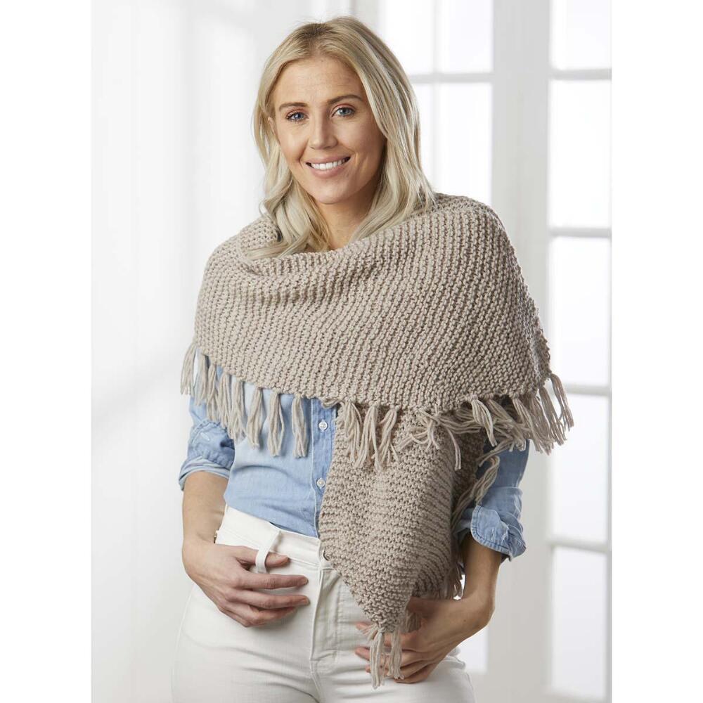 Easy garter stitch scarf free knitting pattern for women