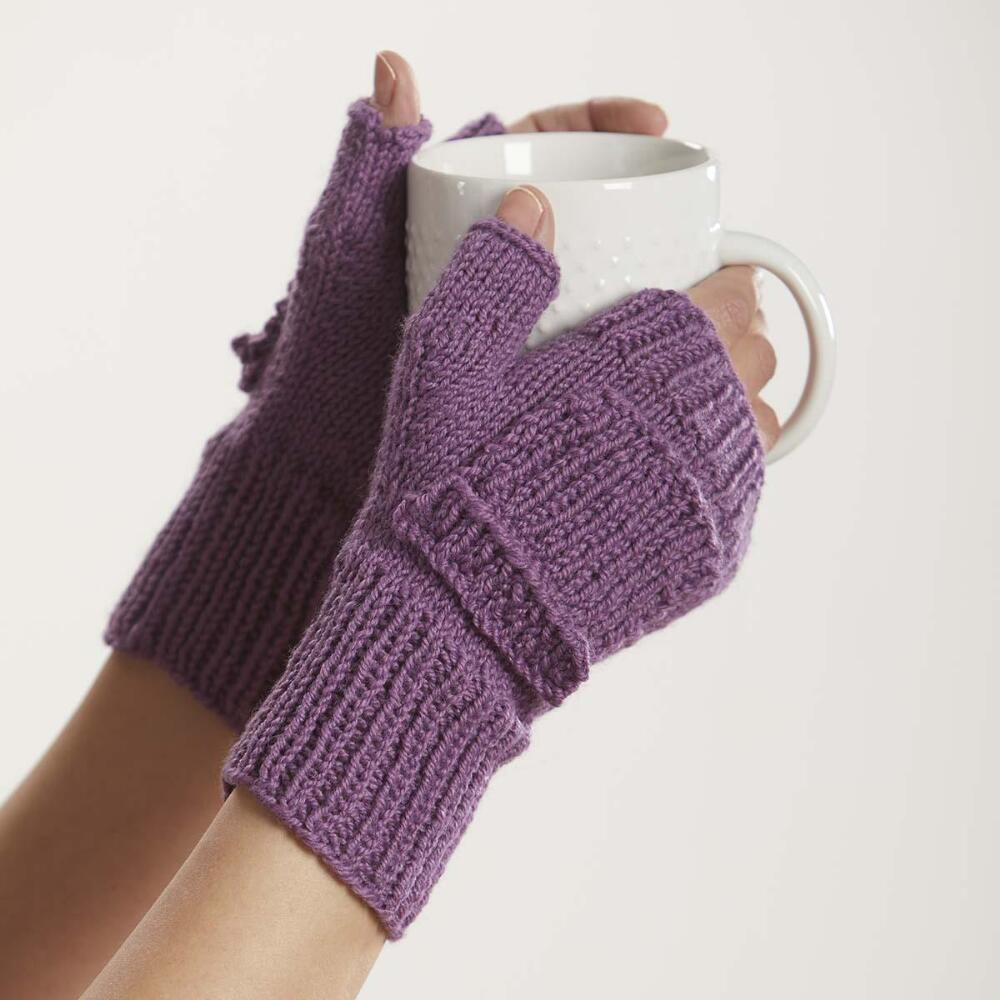 Fingerless Mitts Knit Pattern Free Download