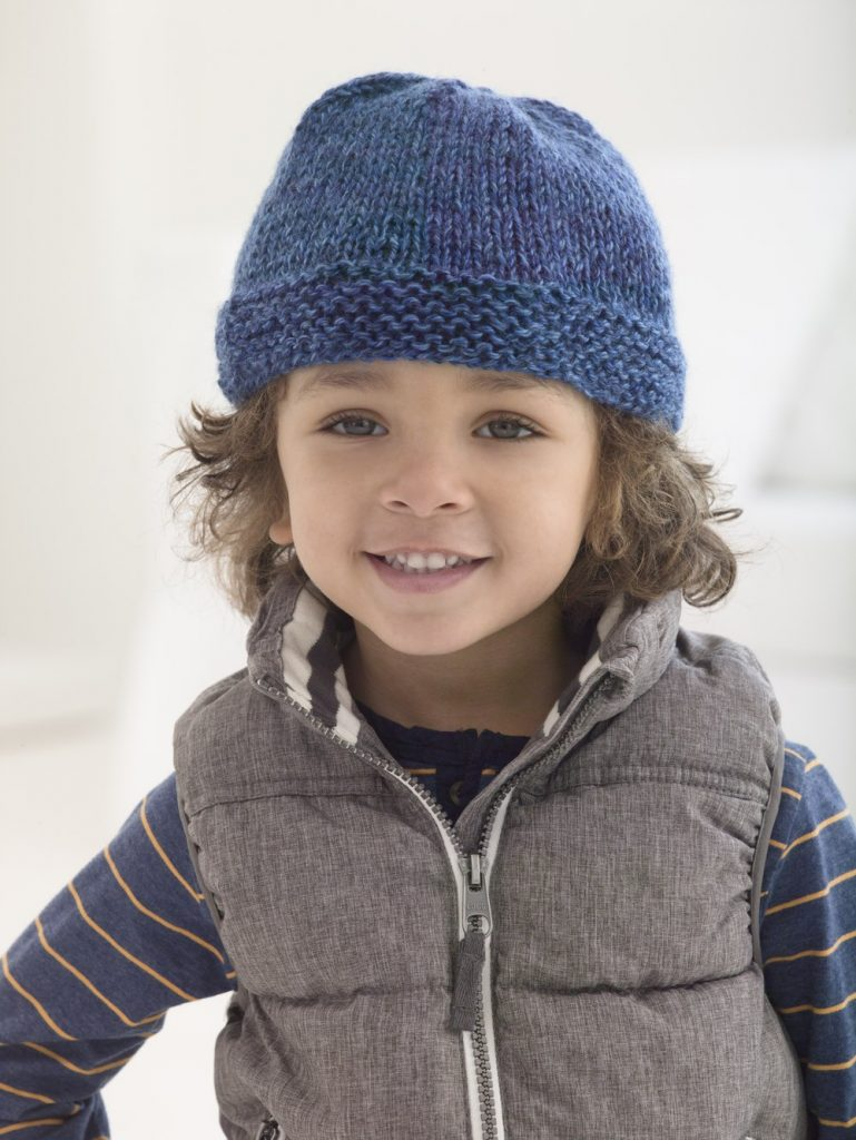 Free knit pattern for a boys beanie
