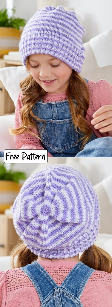 Free knitting pattern for a children's hat