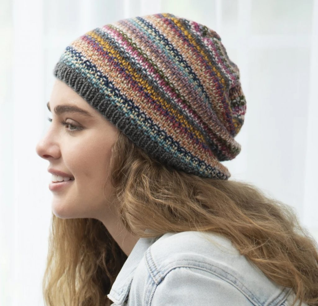 Free knitting pattern for a slouchy hat