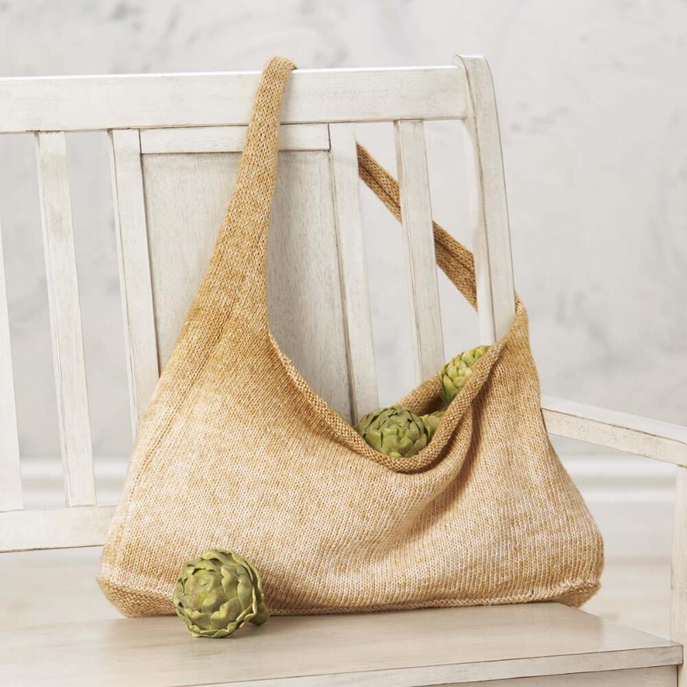 Free knitting pattern for an easy tote bag