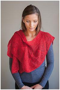 Free knitting pattern for an eyelet scarf