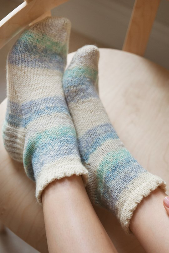 Free knitting pattern for easy ankle socks