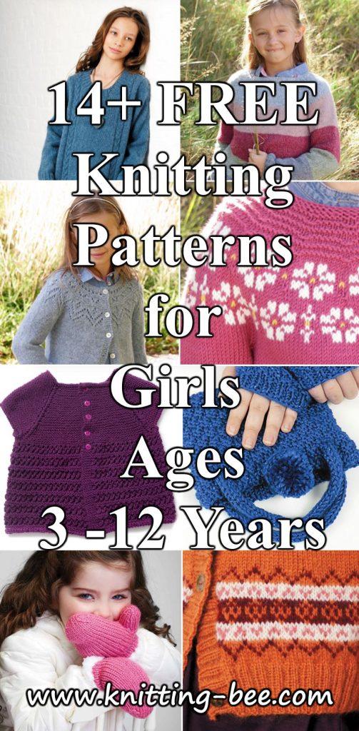 Free knitting pattern for girls