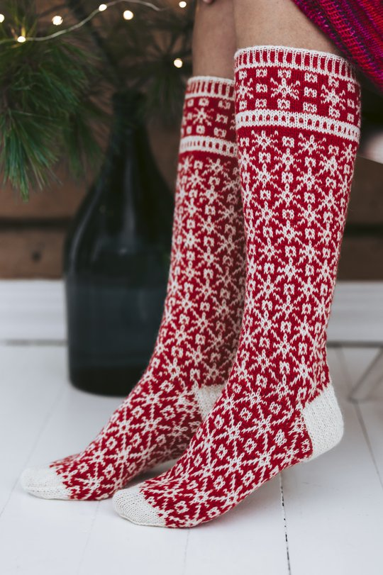 Free knitting pattern for norweigian socks