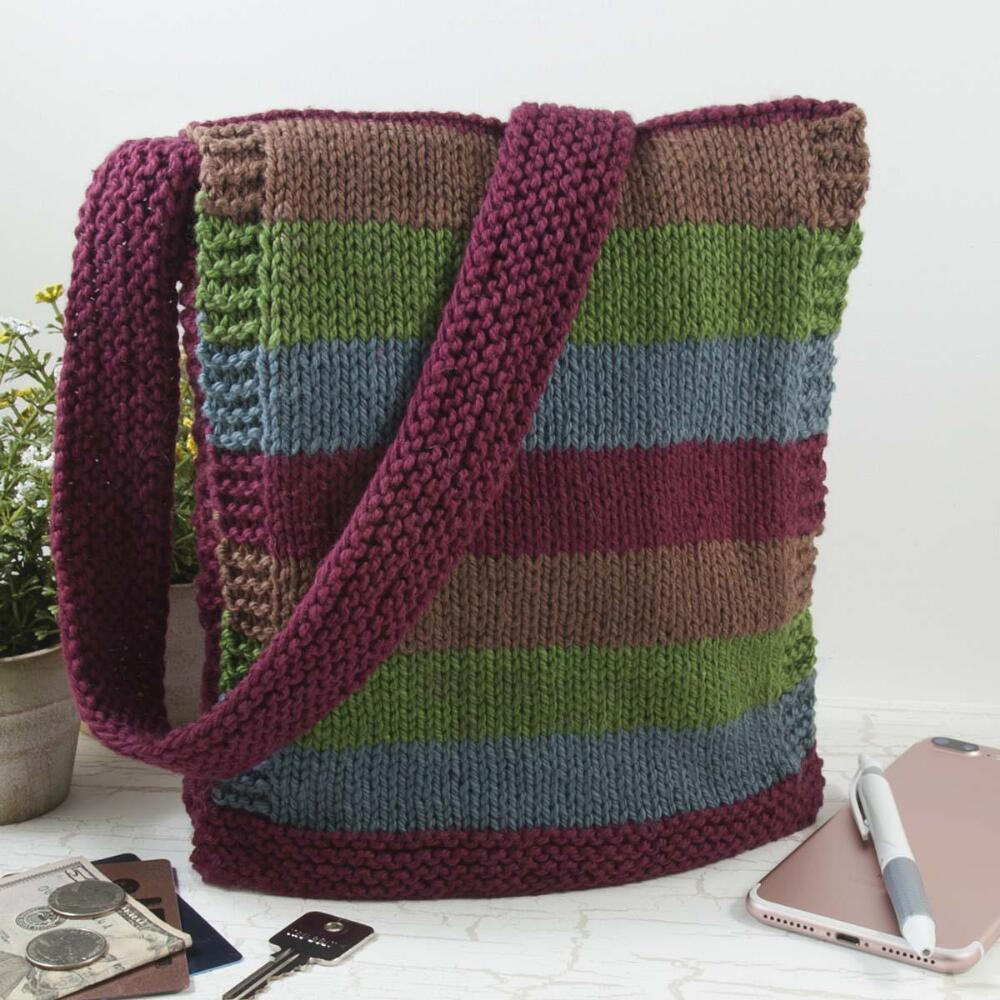 Handy and easy handbag free knitting pattern