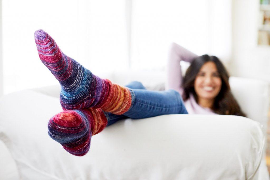 Valley socks free knitting pattern