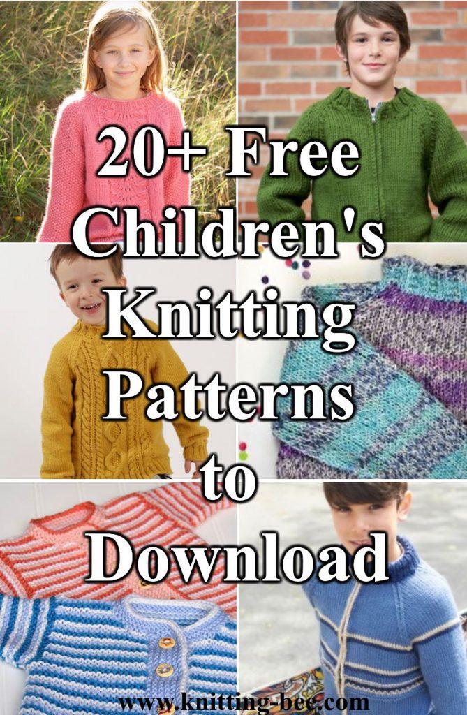 Free knitting patterns for kids