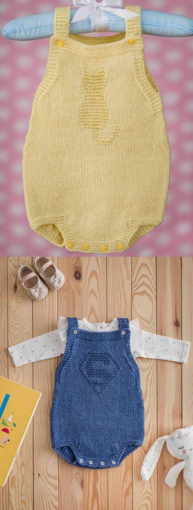 Baby onesie knitting pattern free