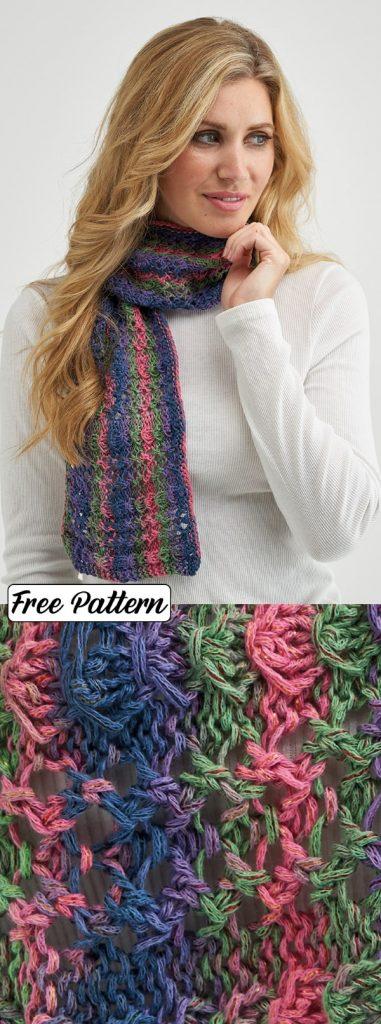 Free Knit Pattern for a Fantasy Stitch Shawl