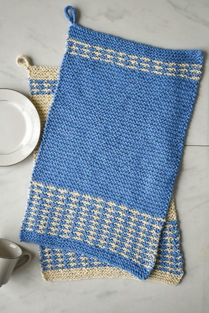 Free Knitting Pattern for Mosaic Dish Towels