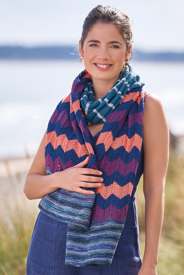 Free Knitting Pattern for a Chevron Scarf