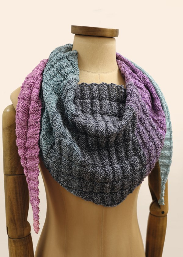Free Knitting Pattern for a Circle of Colour Shawl