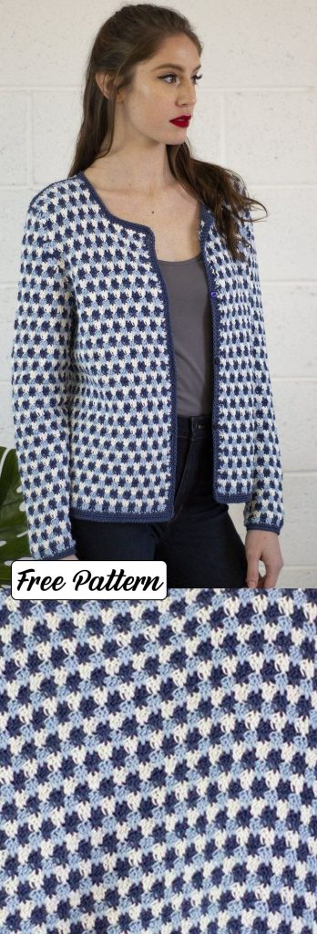 Free Knitting Pattern for a Colorwork Cardigan