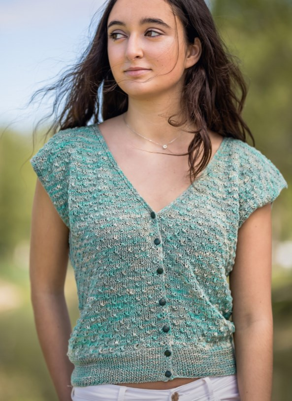 Free Knitting Pattern for a Summer Cardigan