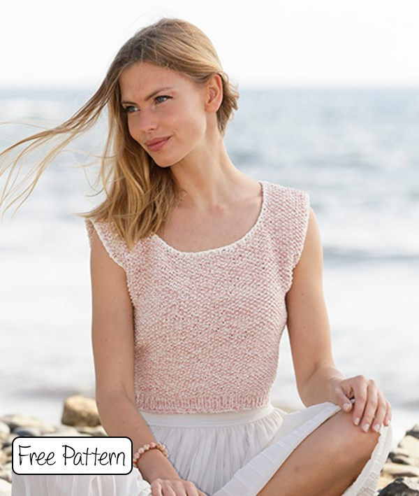 Free knit pattern for summer tee