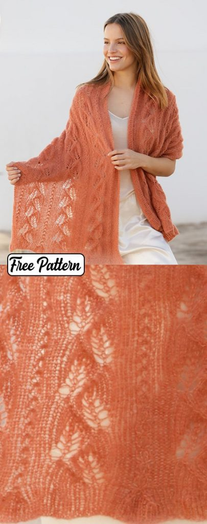 Free knitting pattern for a lace shawl