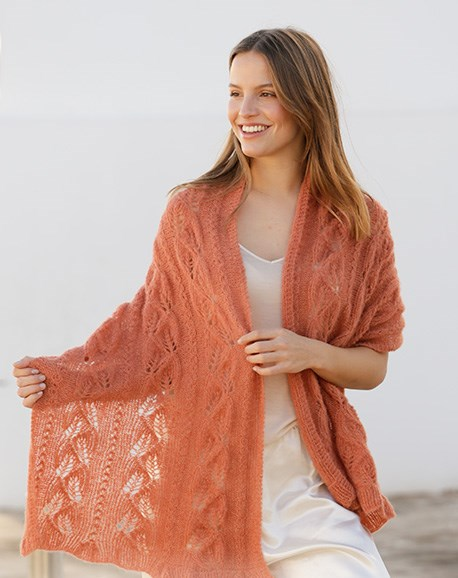 Free knitting pattern for a lace shawl