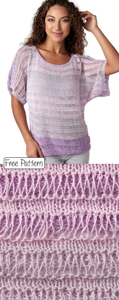Free knitting pattern for a modern summer top