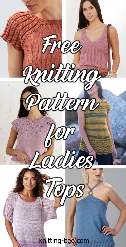 Free knitting pattern for ladies top 2020