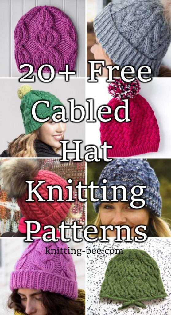 Free knitting patterns for cabled hats