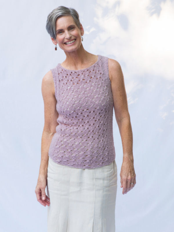 Free lace tank top knitting pattern