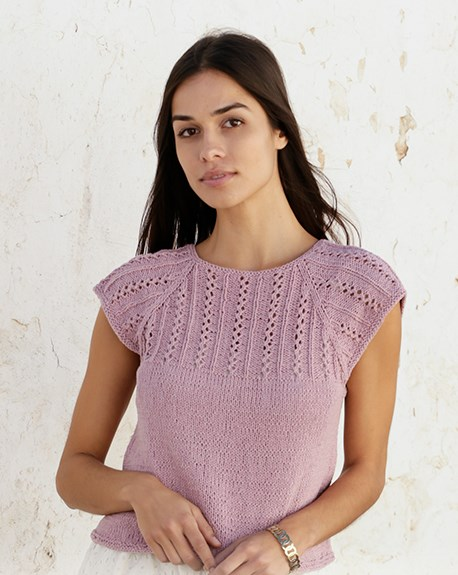 Free lace tee knitting pattern