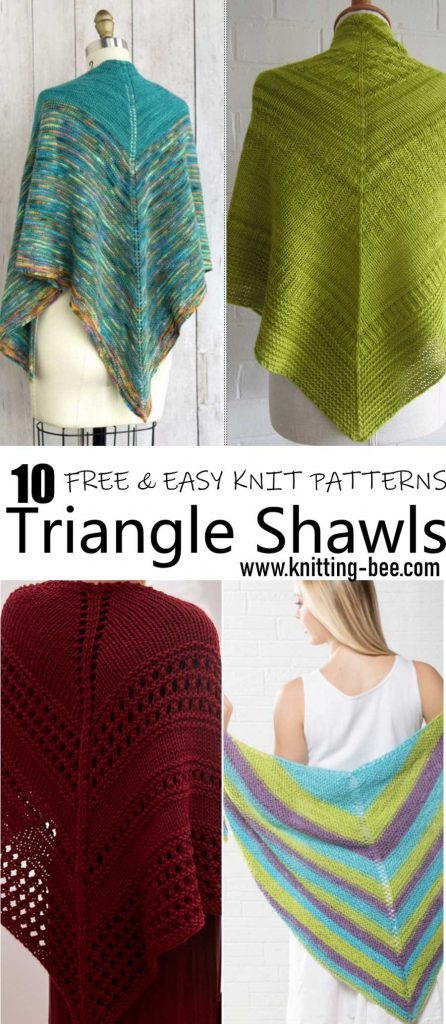 easy triangle shawl knitting pattern